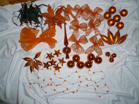 Oranžové žiarovky na vianočny stromček,