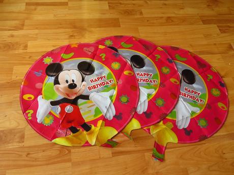 3x balonek s mickey mousem,