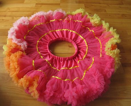 barevná tutu sukně- tylová, 104