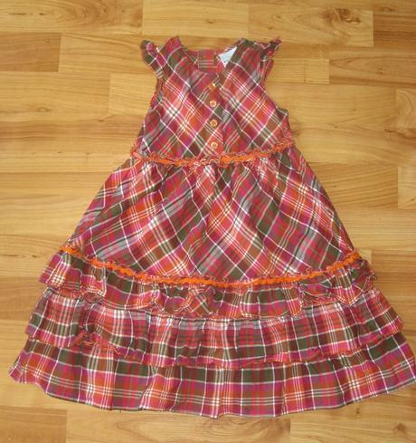 kárované šaty next, 92