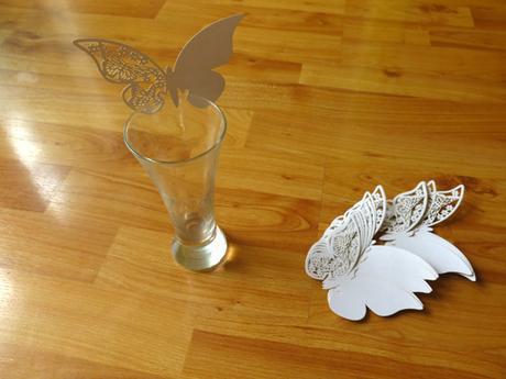 nepoužité kroužky na ubrousky- motýl, motýlek,