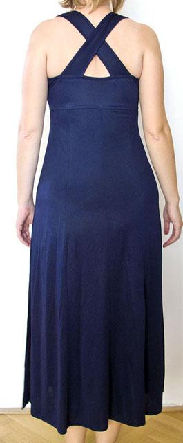 šaty modré- na ramínka, 38