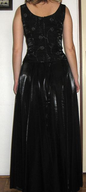 slušivé antracitové společenské šaty, 38