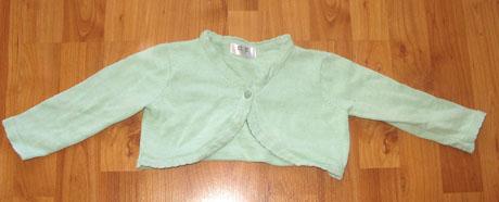 zelené bolerko- nenošené, 92