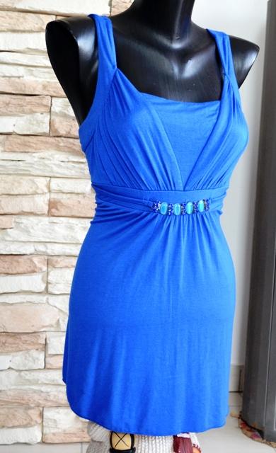 Elegantný modrý top, M