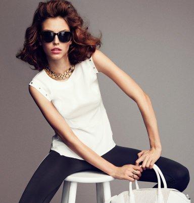 Elegantný top bez rukávou, H&M, 36