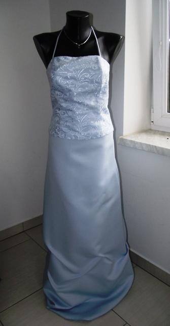 Korzetové modré šaty, 38