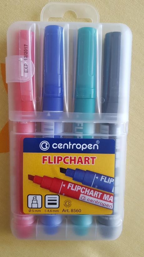 Flipchart fixy 4 ks,