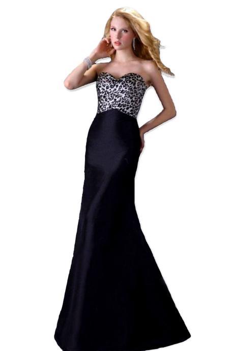 černé šaty s leopardím živůtkem, 36