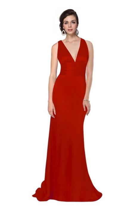 Sexy červené společenské šaty, 38