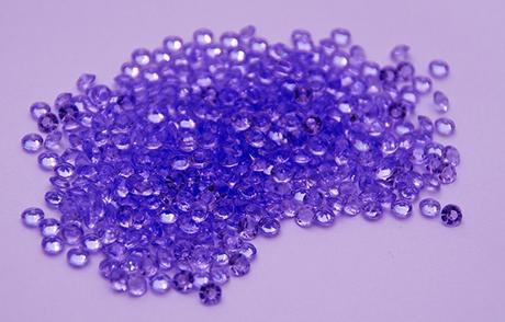 Dekorativní diamanty 4,5mm - 1000ks - fialová,