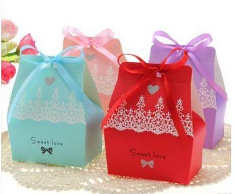 Krabičky na mandle - candy box - modrá,
