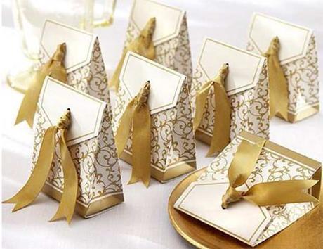 Krabičky na mandle - candy box - zlatá,