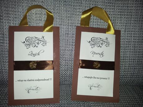Visašky na dvere pre nevestu a ženícha,
