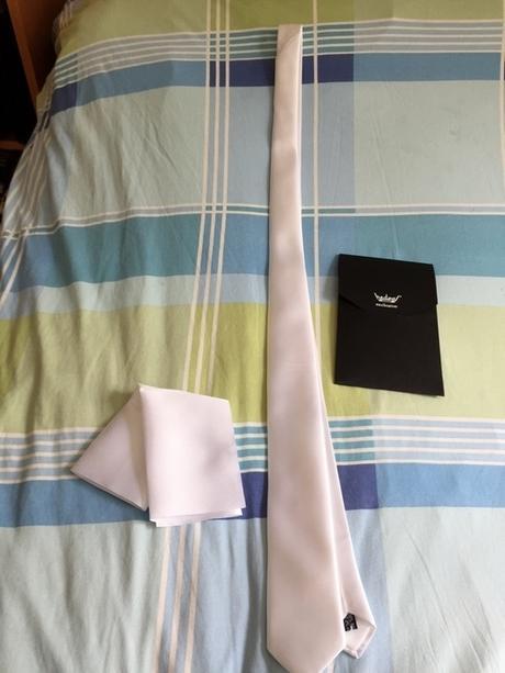kravata s kapesníčkem do saka svatební (nová),