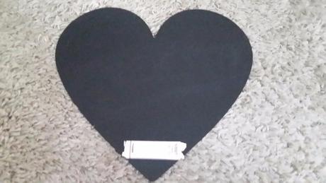 Psací svatební tabulka srdce s křídami ,