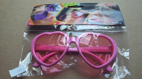 Party brýle, srdcove růžové ,