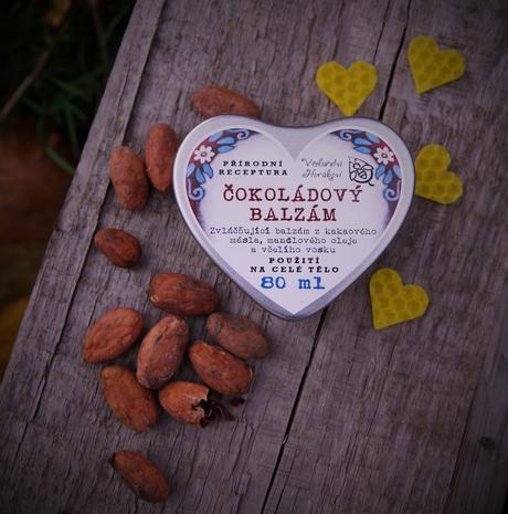 Čokoládový balzám velké srdce,