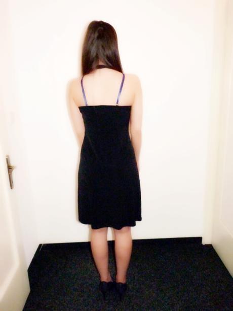 Černé kokteilové šaty Orsay, 38