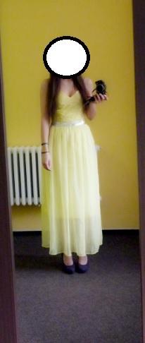 Žluté plesové šaty , 36