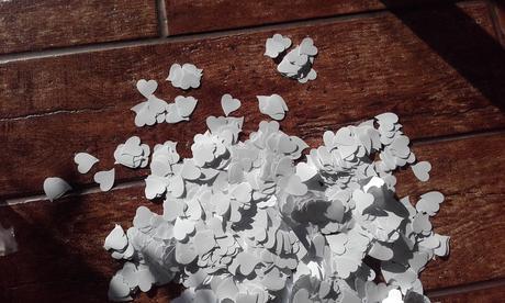 konfety - srdíčka,