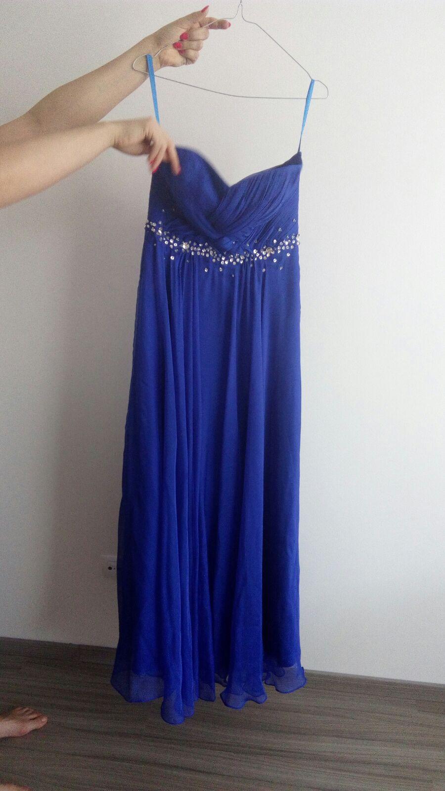 Modré spoločenské šaty  0a3a40966f7