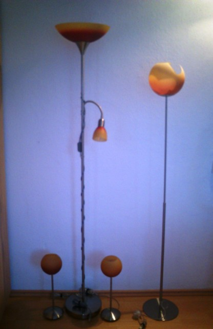 Stojanova lampa, 2xstolna lampa plus 1 ks gratis,