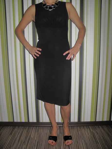 Čierne biznis šaty - dkny ce3e6de9b46