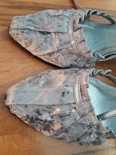 Sandálky striebornošedé, 40