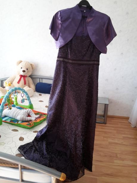 šaty dlhé fialové, 44