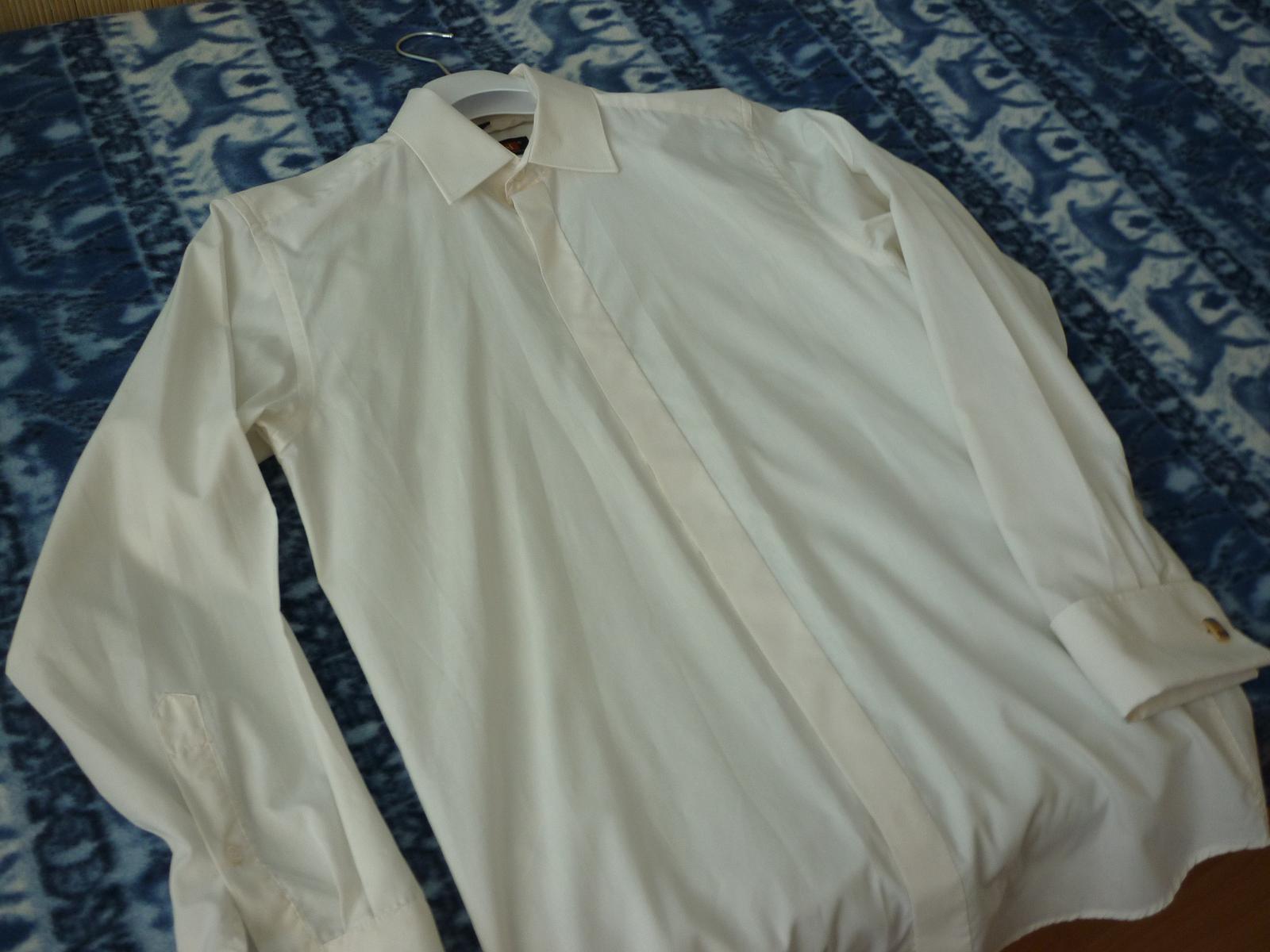 bde13589371a Svadobná maslová košeľa