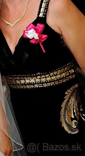 prekrásne čierno-zlaté šaty, 38