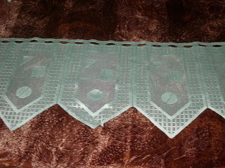 Záclonky zelené -5ks,