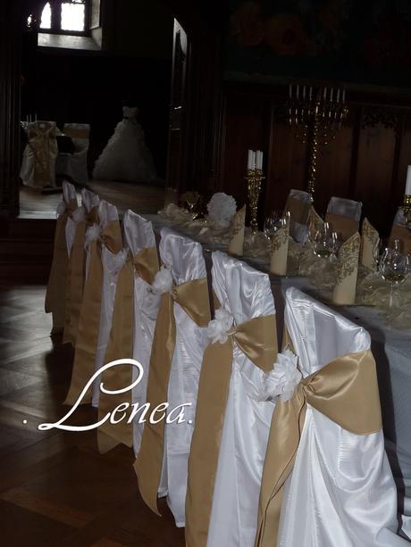 Potahy na židle-Romantik bílý- 29,-Kč,