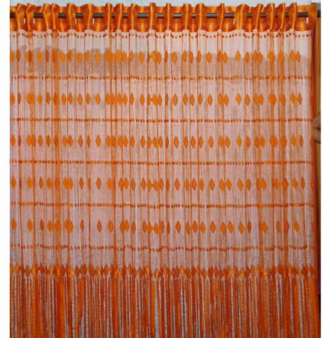 Pandora - Pomarančová šnúrková záclona ,