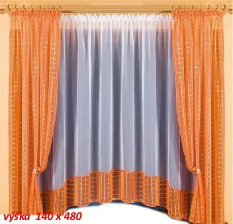 Záclona so závesom 140 x 480,