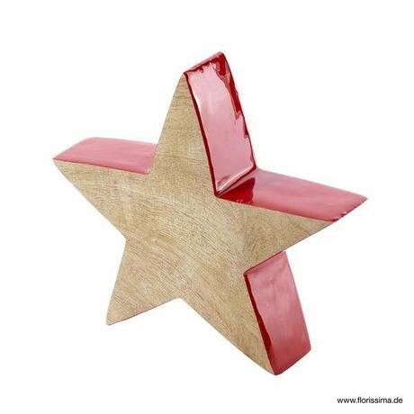 Dekoratívna drevená hviezda nature ,