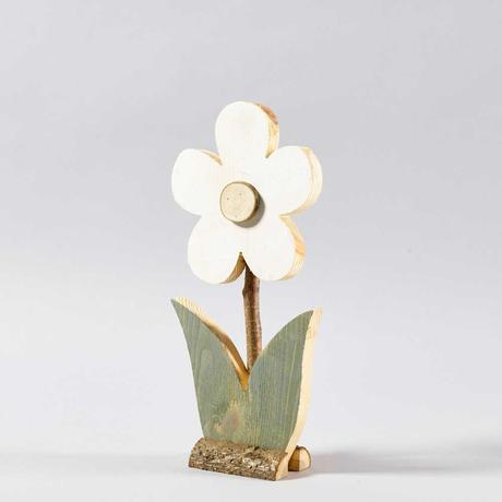 Dekoratívne drevené kvety na podstavci,