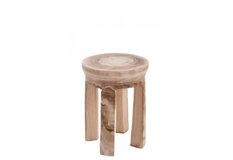 Drevená taburetka-stolík NATURE,