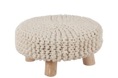 Taburetka drevená pletený poťah,