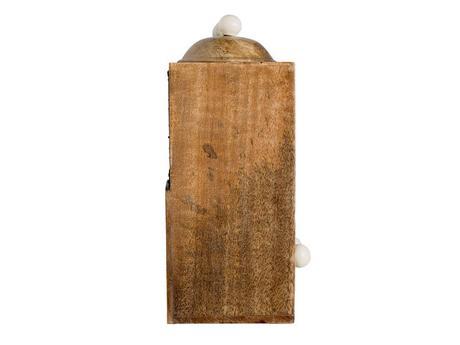 ZĽAVA - Drevený regál s dózami a zásuvkami ,