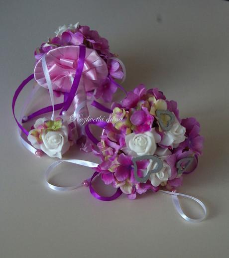 Hortenzie - růže umělá kytička,