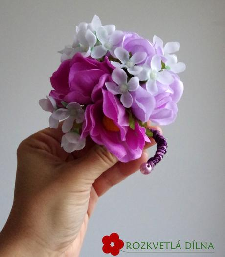 Jarní nevěsta - umělá kytice,