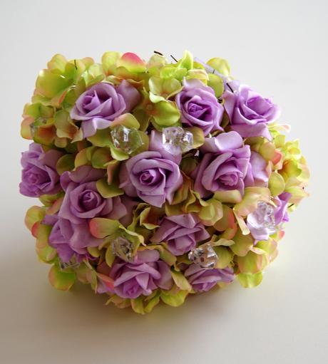 Kytice umělá - hortenzie a růže II.,