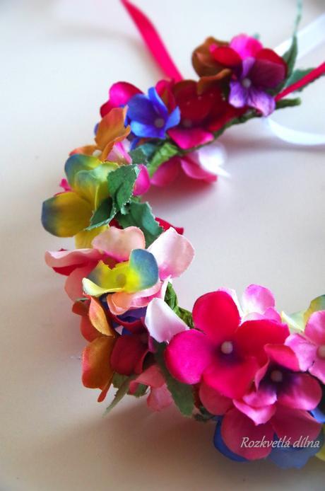Věneček - romantické hortenzie,