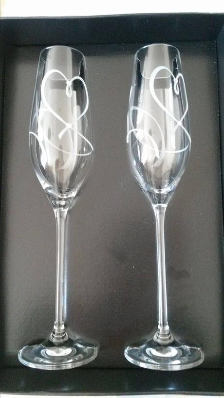 Sklenice na šampaňské s krystaly Swarovski,