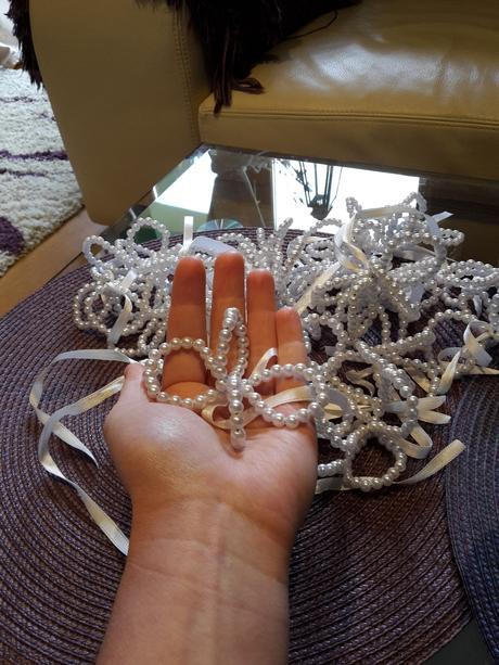perlové kvietky ,