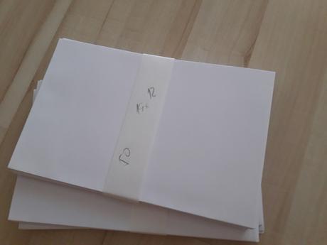 Bílé obálky  50ks 19x12 cm,