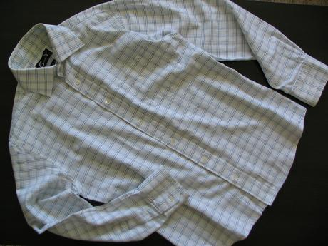 biela károvaná košeľa, 38