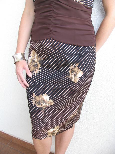 nenosená sukňa s topom, 38